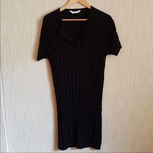 EVERLANE ribbed dress in black relaxed fit NWOT